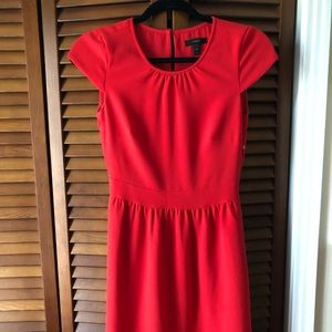 JCrew dress in red
